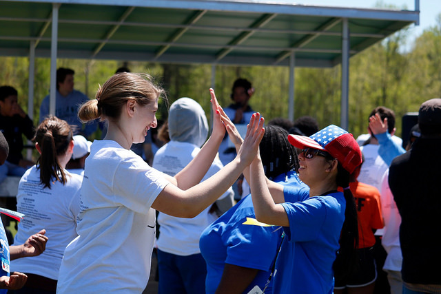 Upper School Welcomes Hundreds of Special Olympians for Day of Contests and Smiles