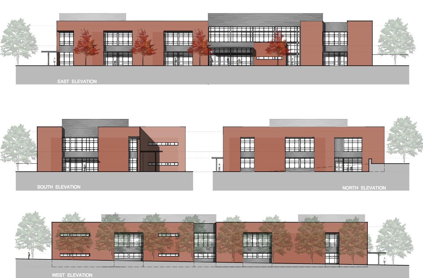 School Building Elevations : Durham academy us stem humanities ctr